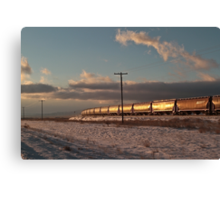 The Magnificent Shining Freight Train #4 Canvas Print