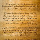 Ezekial 25:17 (Reliced Background) by Roz Abellera Art