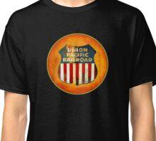 Vintage Union Pacific Railroad sign Classic T-Shirt