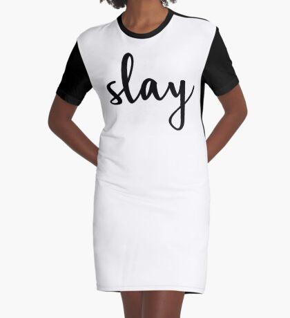 Slay  Graphic T-Shirt Dress