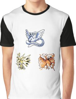 The Legendary Birds - Pokemon Red & Blue Graphic T-Shirt