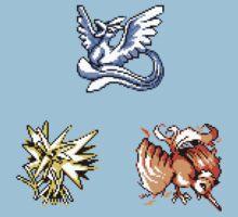 The Legendary Birds - Pokemon Red & Blue Kids Tee
