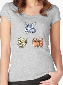 The Legendary Birds - Pokemon Red & Blue Women's Fitted Scoop T-Shirt