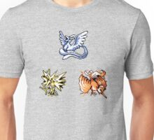 The Legendary Birds - Pokemon Red & Blue Unisex T-Shirt