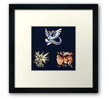 The Legendary Birds - Pokemon Red & Blue Framed Print