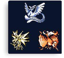 The Legendary Birds - Pokemon Red & Blue Canvas Print
