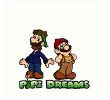Mario and Luigi - Pipe Dreams Art Print