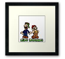 Mario and Luigi - Pipe Dreams Framed Print