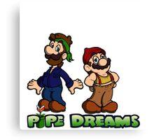 Mario and Luigi - Pipe Dreams Canvas Print