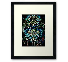 Plants & Animals, ocean, sea creature, Copepods, crabs, marine, psychedelic, art, illustration, haeckel,  Framed Print