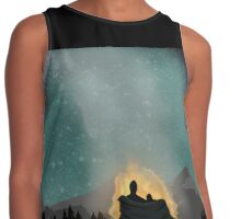 Camping Under the Stars Contrast Tank