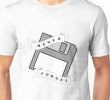 Floppy Disc - Never Forget Unisex T-Shirt