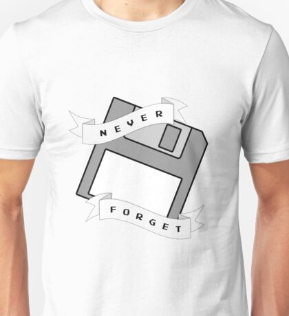 Floppy Disc - Never Forget Unisex T-Shirt