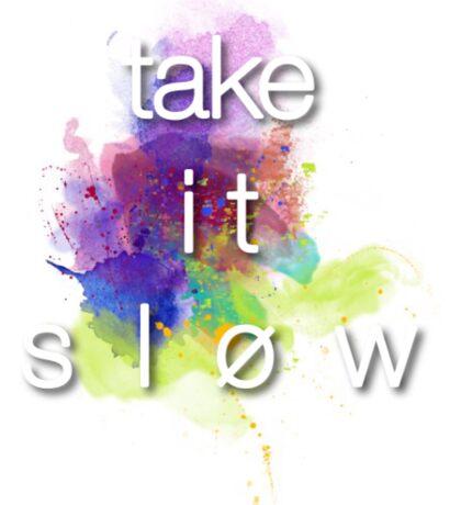 Take It Slow Sticker
