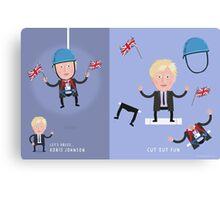 Lets Dress...Boris Johnson No.1 Canvas Print