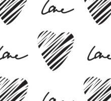 Grunge heart seamless pattern. Simple seamless monochrome wallpaper. Hand drawn background. Sticker