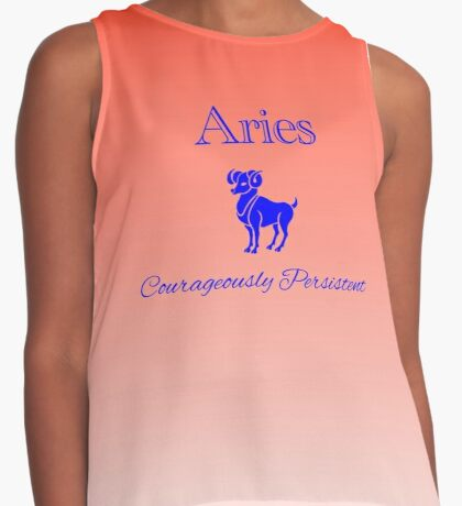 Aries - Courageously Persistent Contrast Tank