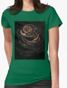 Abstract rose Womens Fitted T-Shirt