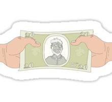 money obsessed world Sticker