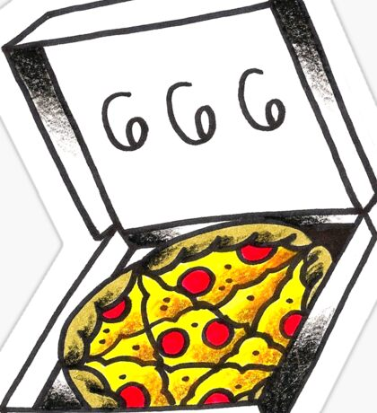 666 Pizza Sticker