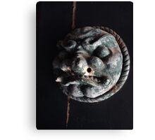Door Medallion, on the Gates of Hell Canvas Print