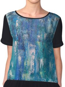 Abstract blue   Chiffon Top