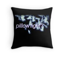 pillow fight? on black. VividScene Throw Pillow