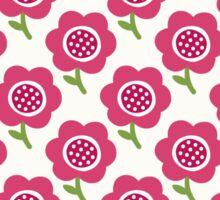 Simple baby pattern. Cute seamless wallpaper. Doodle little flower background. Sticker