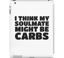Carbs Fat Joke Fitness Humor Funny Quote iPad Case/Skin
