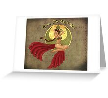 Slave Leia War Pin Up Greeting Card