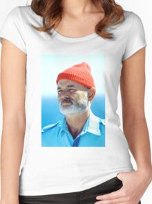 Bill Murray as Steve Zissou  Women's Fitted Scoop T-Shirt
