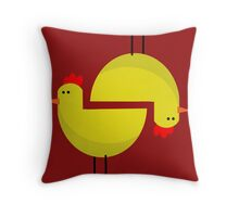 RED CHICKEN  Throw Pillow