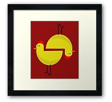 RED CHICKEN  Framed Print