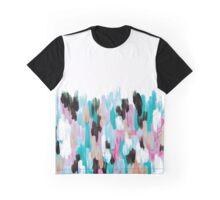 Turqoise Brushstrokes  Graphic T-Shirt