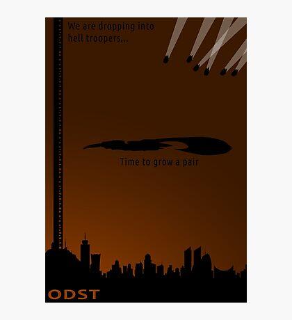 Minimalist ODST Poster (portrait) Photographic Print