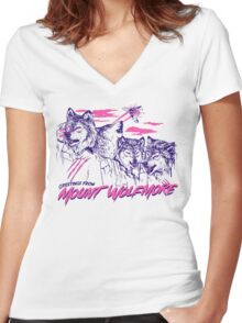Mount Wolfmore Women's Fitted V-Neck T-Shirt