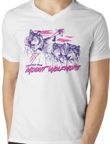 Mount Wolfmore Mens V-Neck T-Shirt