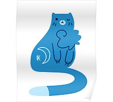 Blue Moon Kitty Cat Poster