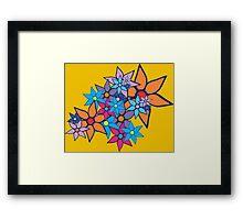 Retro Floral Pattern Framed Print