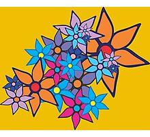 Retro Floral Pattern Photographic Print