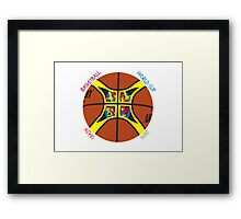 Basketball World Cup Spain 2014 Official ball Framed Print