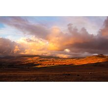 Cumbrian Sunset, England Photographic Print