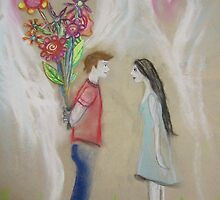 He thought he'd suprise her with a bunch of posies... by Thea T