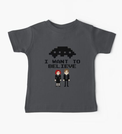 I Want To Believe 8bit Baby Tee