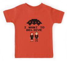I Want To Believe 8bit Kids Tee