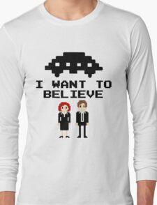 I Want To Believe 8bit Long Sleeve T-Shirt