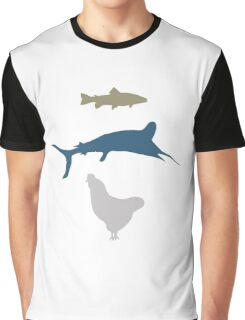The Marlin, the Trout, and the Chicken Graphic T-Shirt