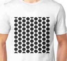 Eames Era Retro 60s Waves Pattern (Black) Unisex T-Shirt