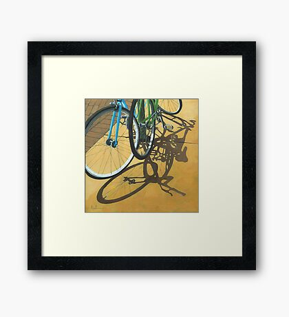 Out to Lunch - Bicycle art Framed Print