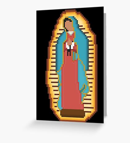 Guadalupe Pixel  Greeting Card